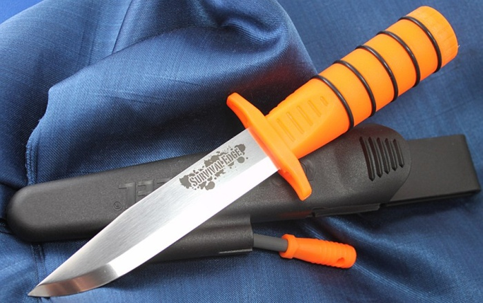 Survivalmesser Cold Steel Survival Edge Orange