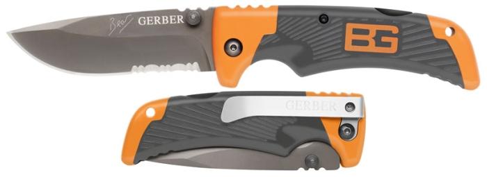 Vergleich des auf- und zugeklappten Messers (beachte den Edelstahlclip)