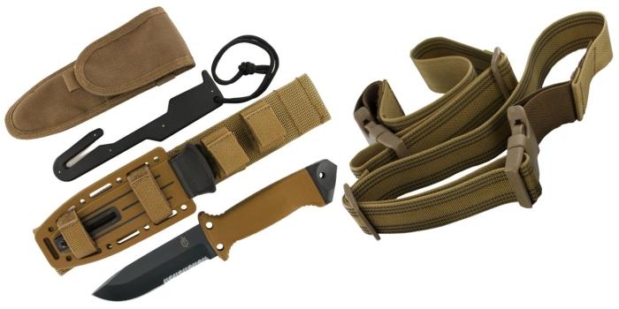 Das Gerber LMF II Survivalmesser mit allen Accessoires