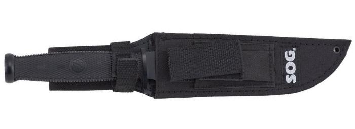 Das Messer in einer sicheren Hülle aus ballistischem Nylon